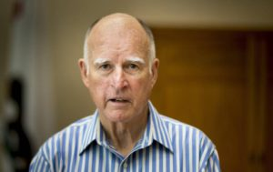 Portrait of California Gov. Jerry Brown