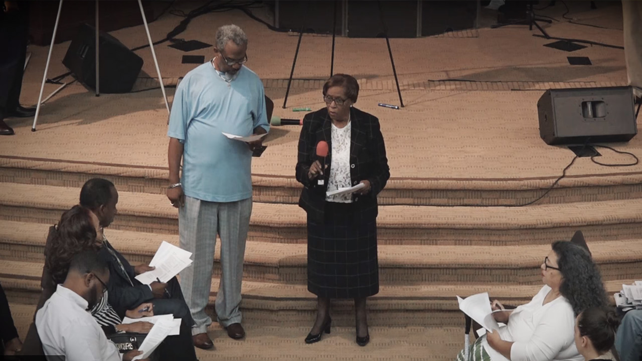 Mary Curry and Pastor B.T. Lewis