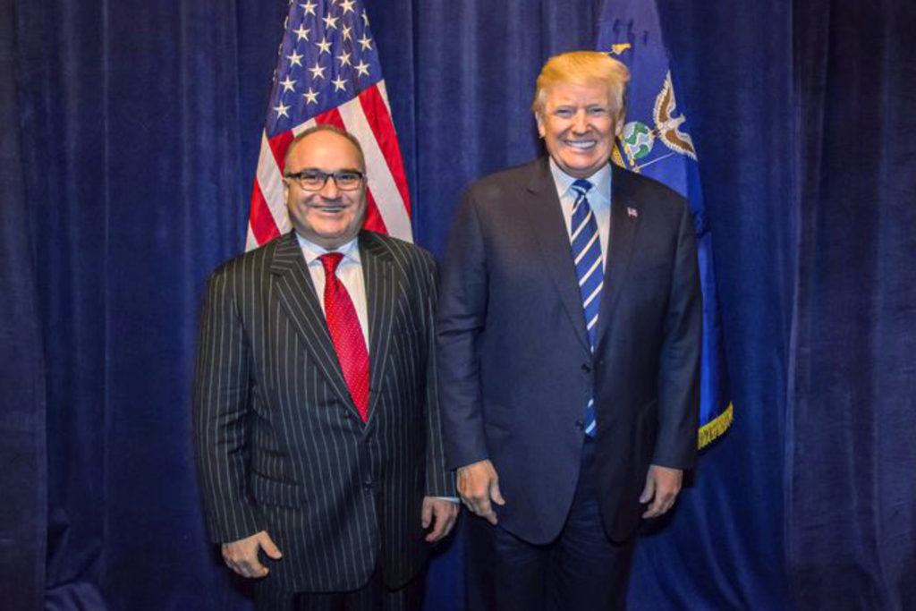 George Nader, left, with President Donald Trump