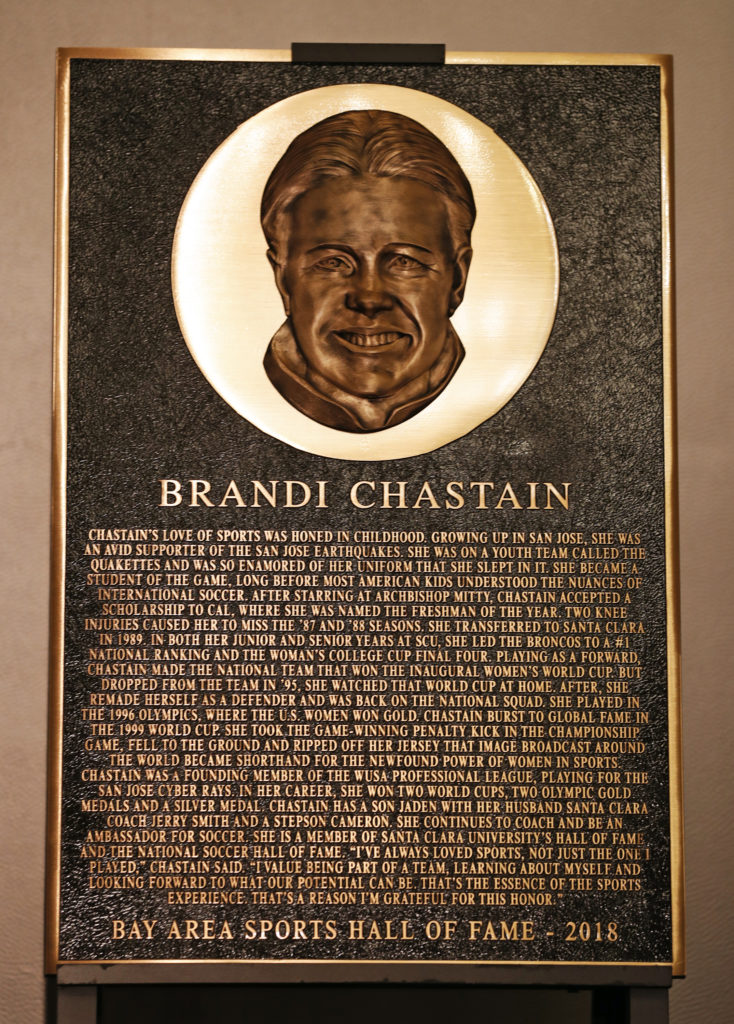 Brandi Chastain's Bay Area Hall of Fame Plaque