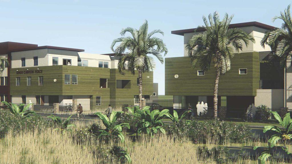 Photo Illustration of the Las Palmas de Sal Gonzales Sr affordable housing complex