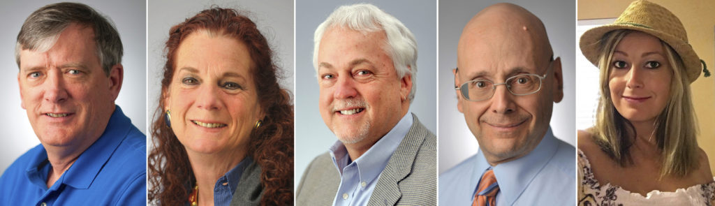 Composite photo of slain newspaper employees