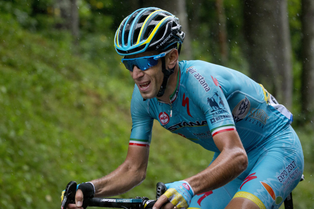 AP Photo of Italian cyclist Vincenzo Nibali