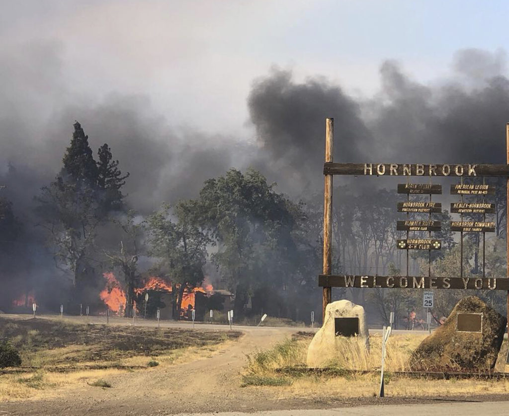 Photo of Hornbrook, Calif., fire damage