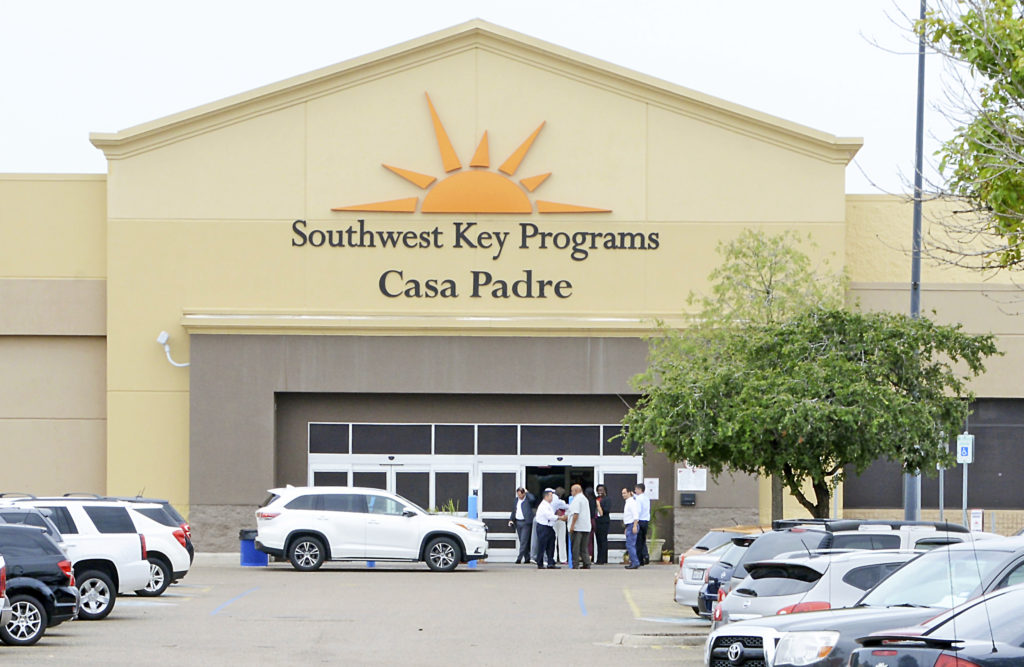 Photo of a Southwest Key operated shelter for detained immigrant children