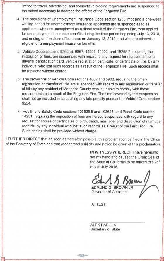 Second half of Ferguson Fire emergency declaration