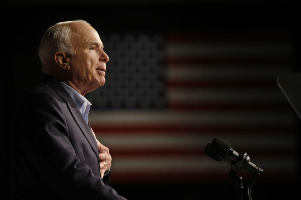 Photo of John McCain in 2008