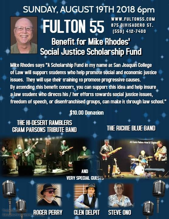 Social justice scholarship benefit concert poster