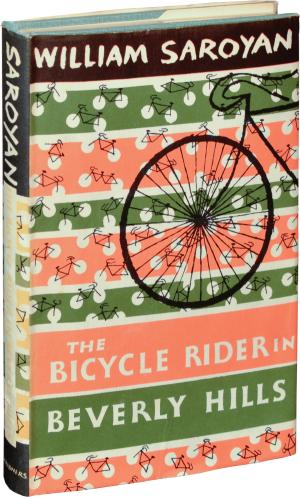 """Photo of book cover of Saroyan's """"The Bicycle Rider in Beverly Hills"""""""