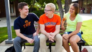 Photo of three students at Fresno Pacific University