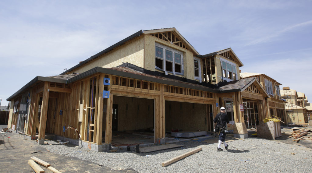 Photo of a home being built in Roseville, Calif.
