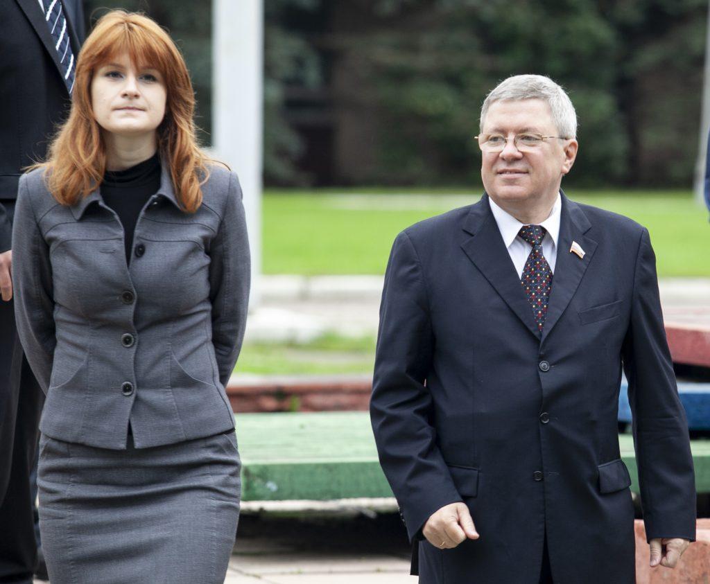 Photo of Maria Butina and Alexander Torshin