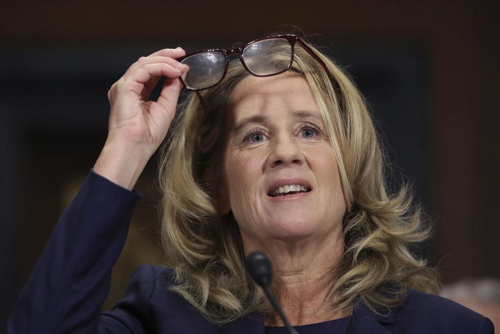 Photo of Christine Blasey Ford Testifying