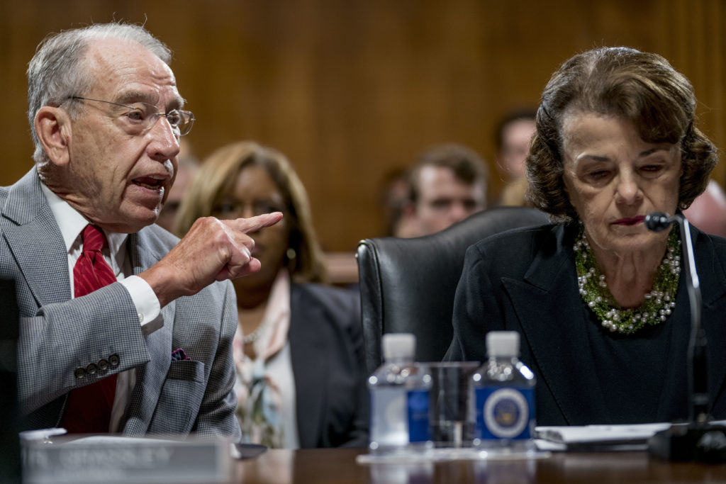 Photo of Sens. Grassley and Feinstein