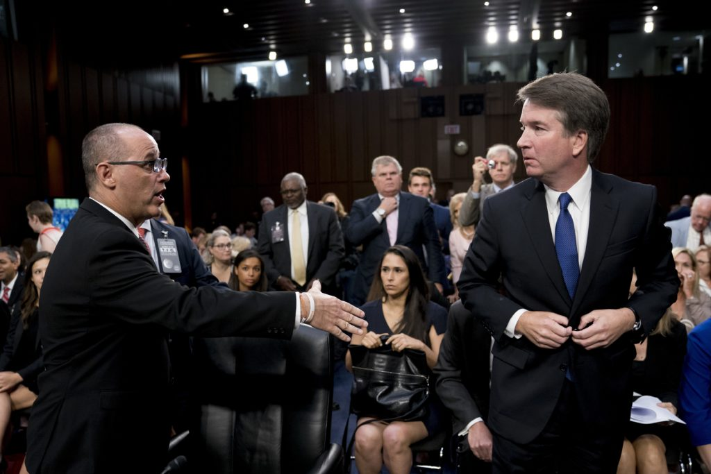 Photo of Fred Guttenberg and Brett Kavanaugh