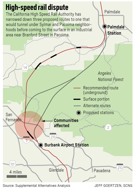 Map Of California High Speed Rail.Socal Las Vegas High Speed Rail Back On Track After Sale Gv Wire