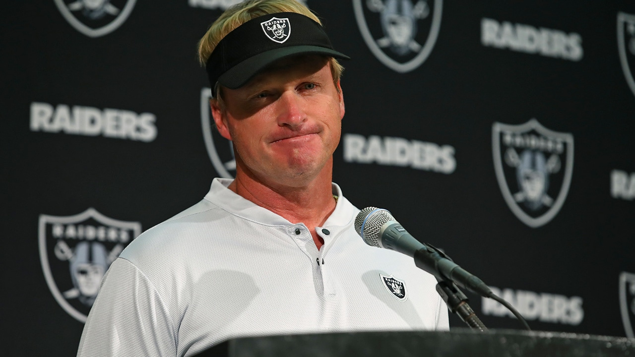 Photo of Oakland Raiders head coach, Jon Gruden