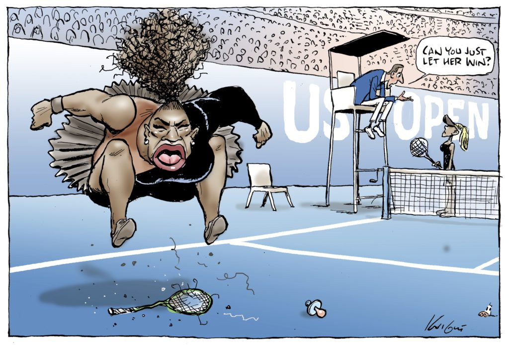 Photo of Serena Williams cartoon