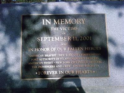 Photo of 9/11 market at the California Memorial in Clovis