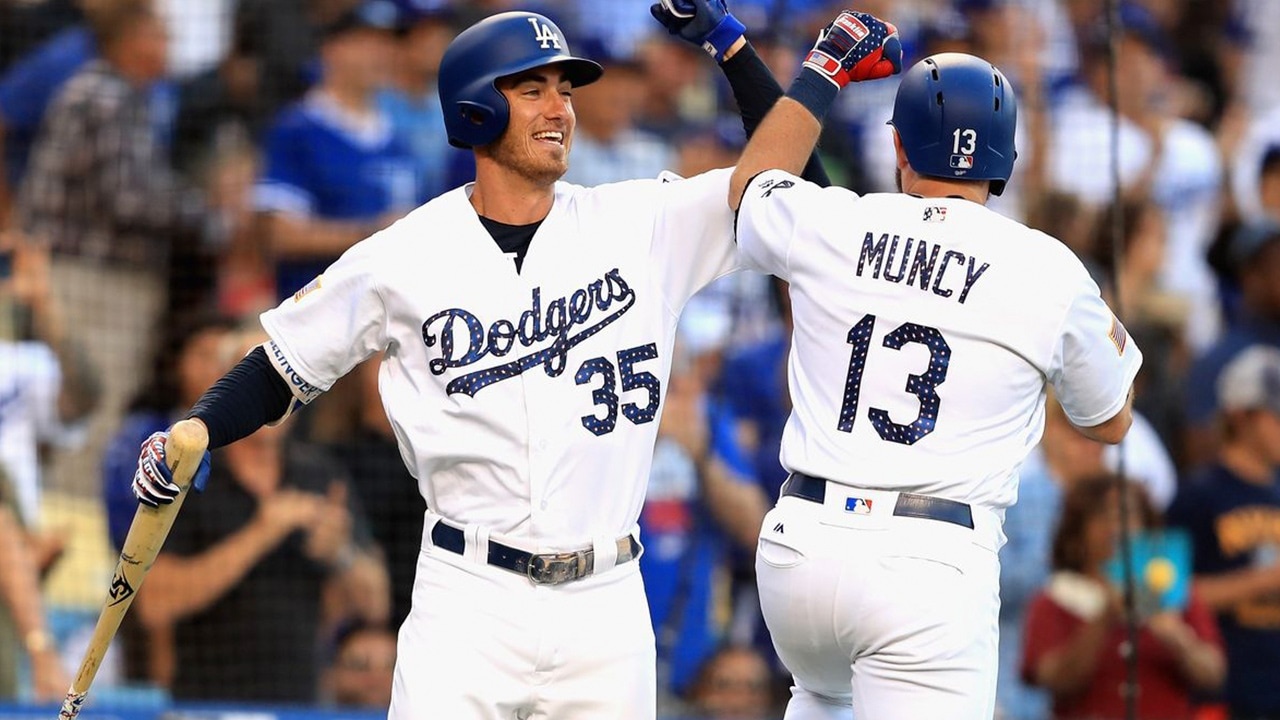 Photo of Max Muncy and Cody Bellinger