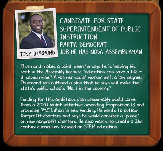 Mini profile of Tony Thurmond