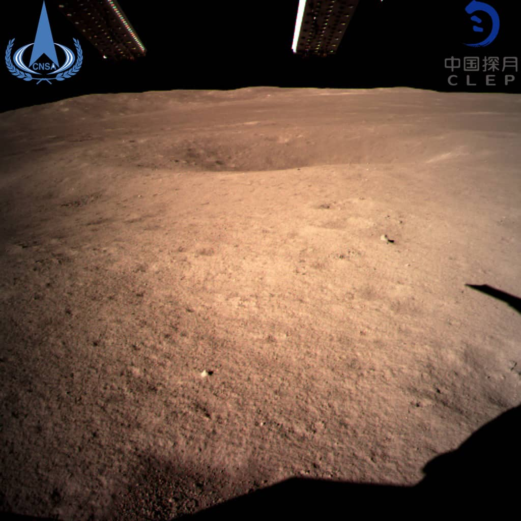 Photo of the first image of the moon's far side taken by China's Chang'e-4 probe