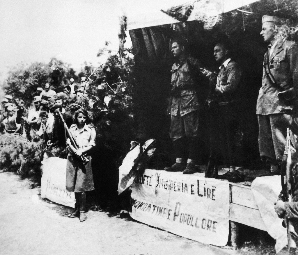 Photo of Albanian resistance during World War II