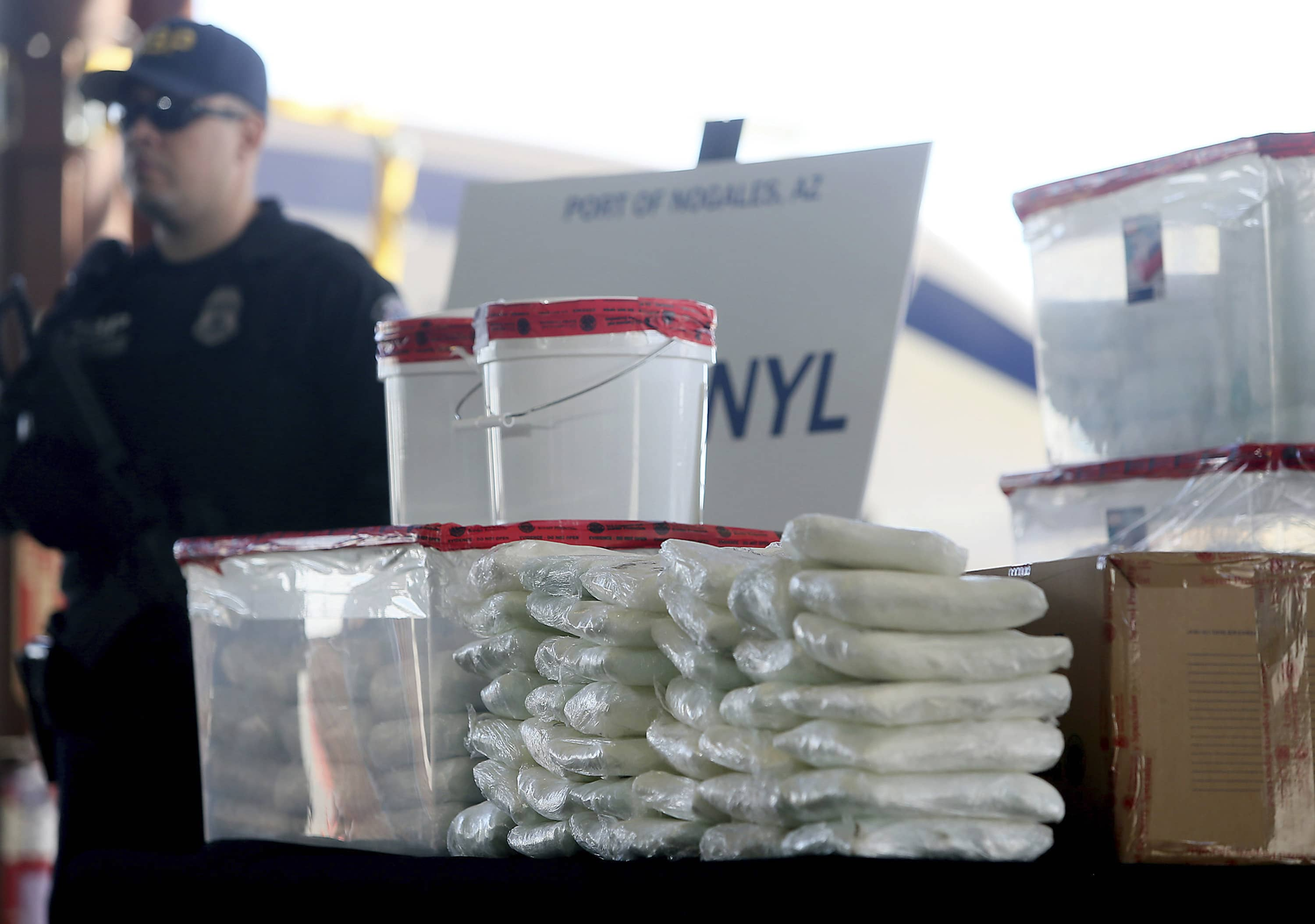 Photo of fentanyl and meth that was seized by Border Patrol