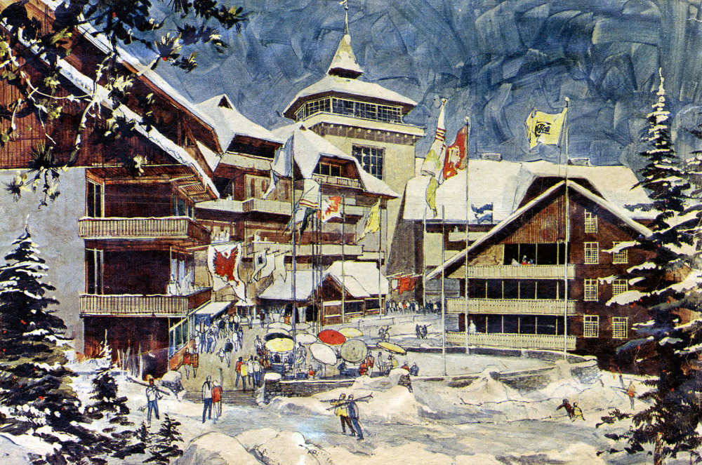 Artist's rendering of Disney's proposed ski resort in Mineral King