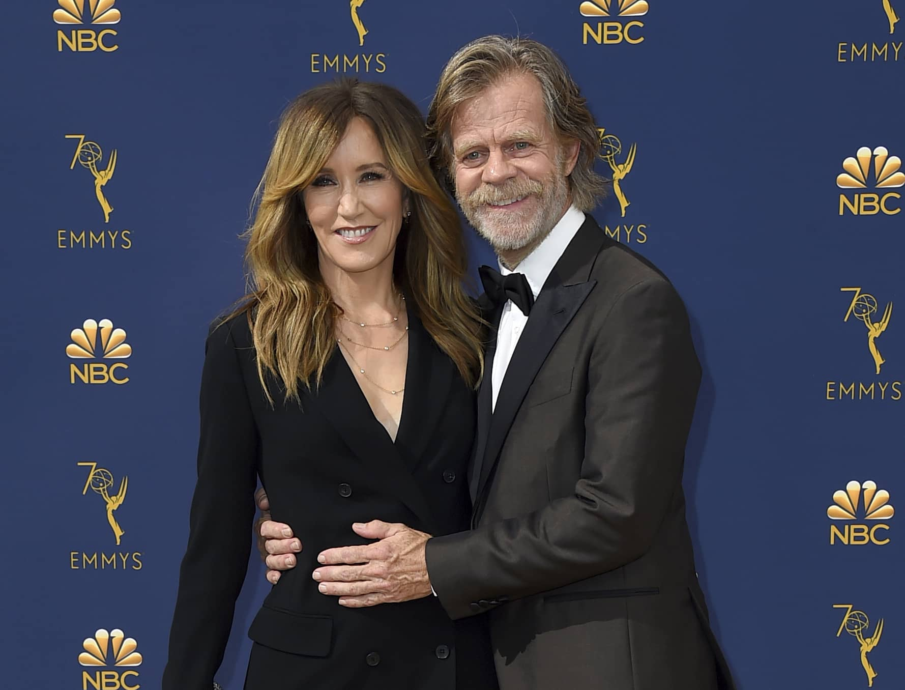 Photo of William H. Macy and his wife Felicity Huffman