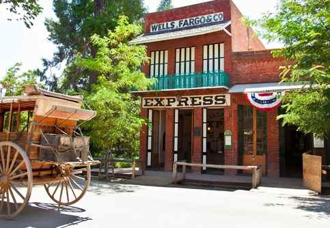 Picture of the Well Fargo in Columbia State Historic Park in California's Mother Lode Country