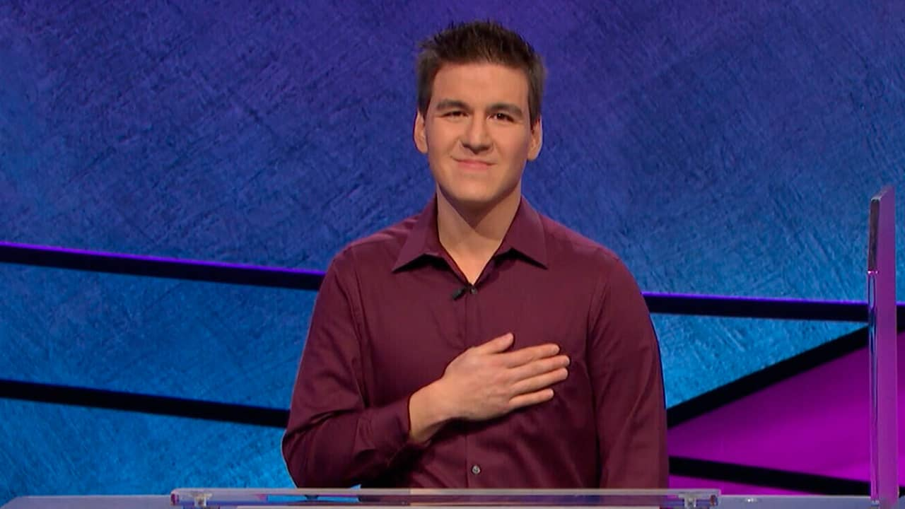 Photo of James Holzhauer on Jeopardy
