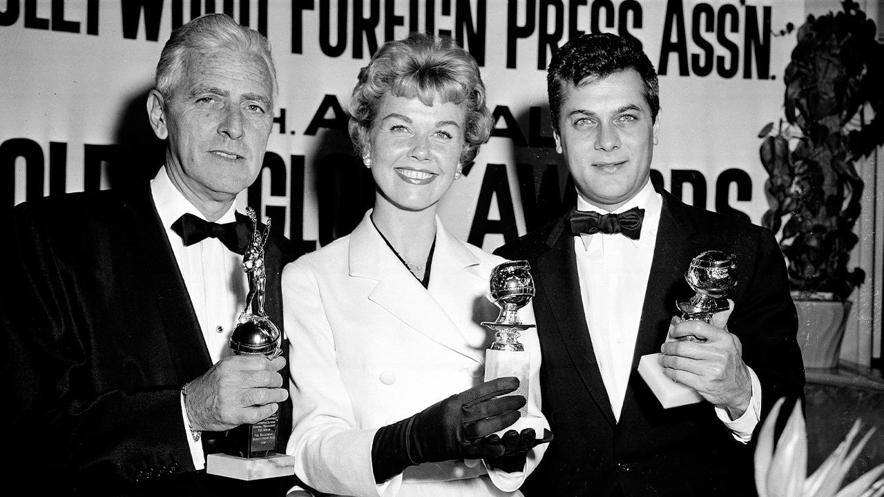 Photo of Doris Day, Tony Curtis, and Buddy Adler