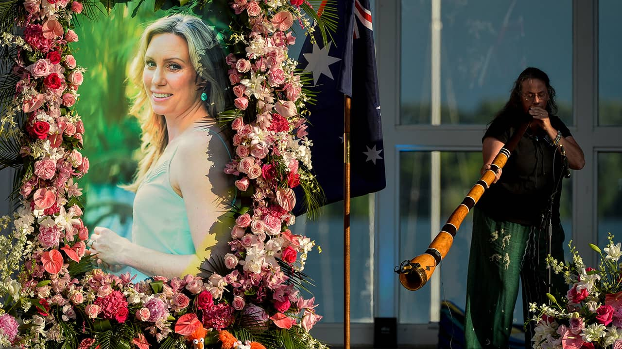 Photo of a memorial service for Justine Ruszczyk Damond