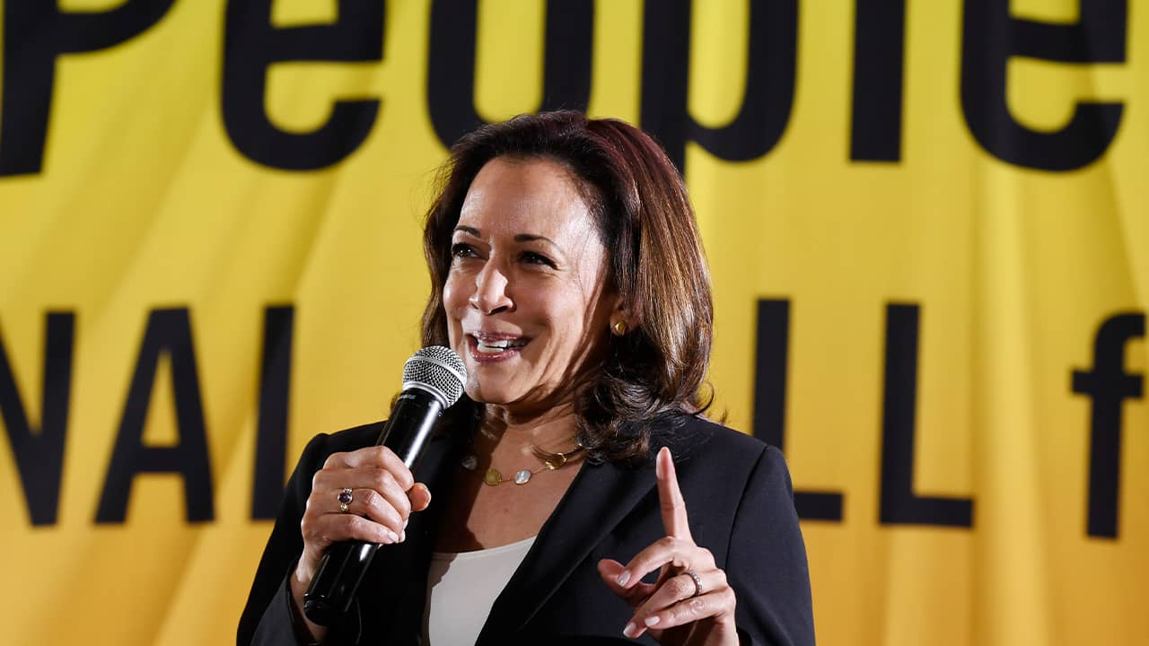 Photo of presidential candidate Sen. Kamala Harris