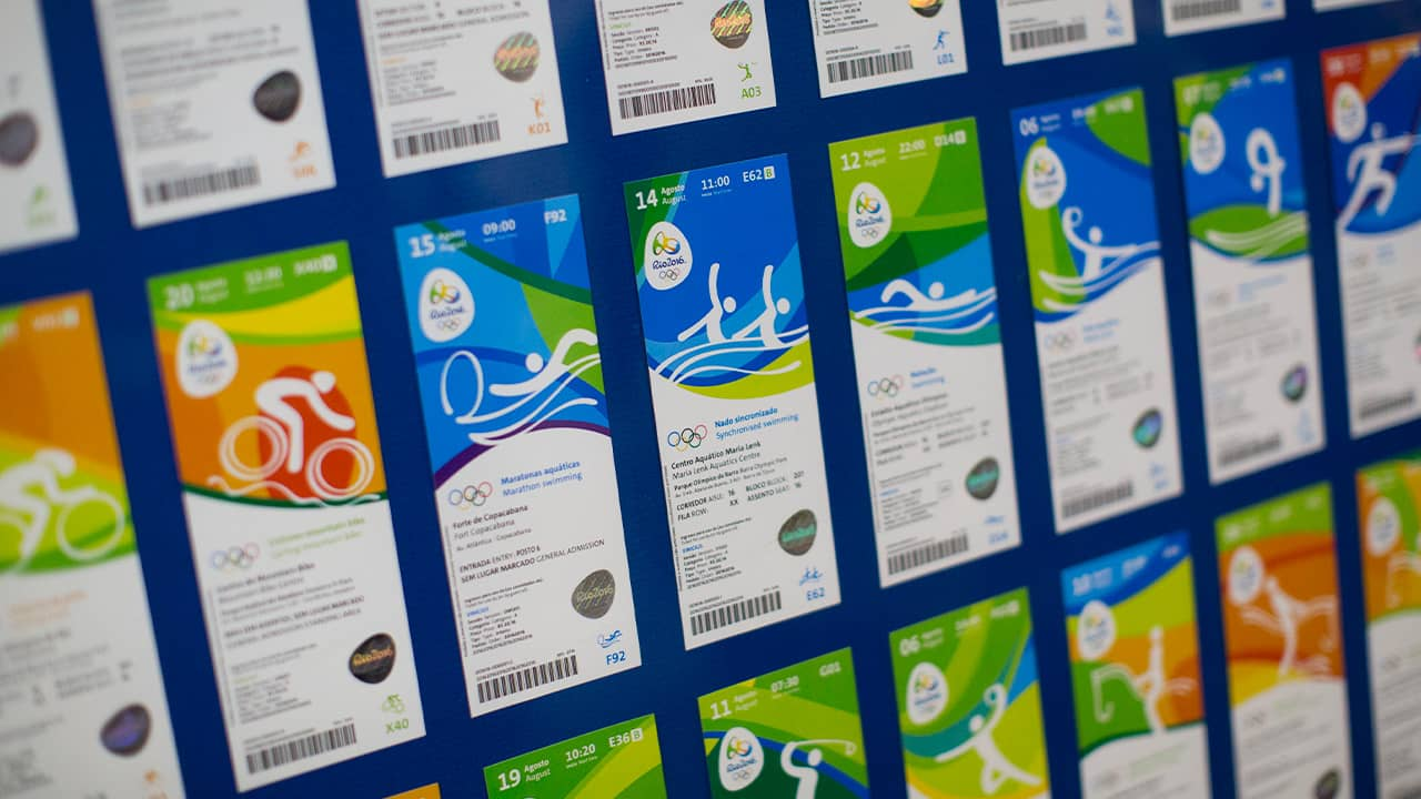 Photo of the new design of the Olympic tickets in 2016
