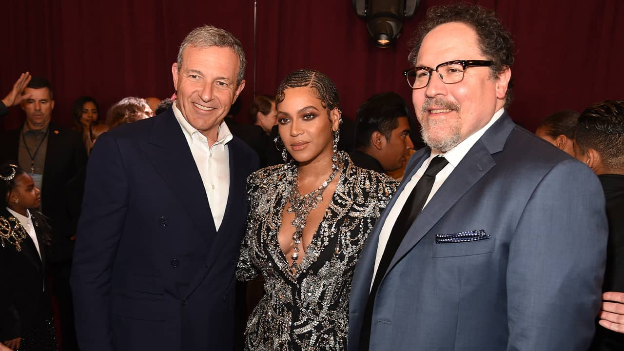Photo of Bob Iger, Beyonce, and Jon Favreau