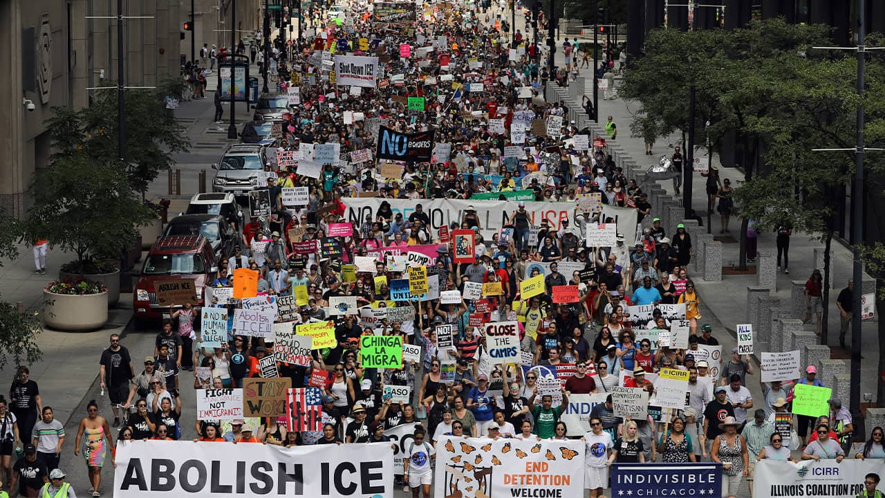 Photo of ICE protest in Chicago