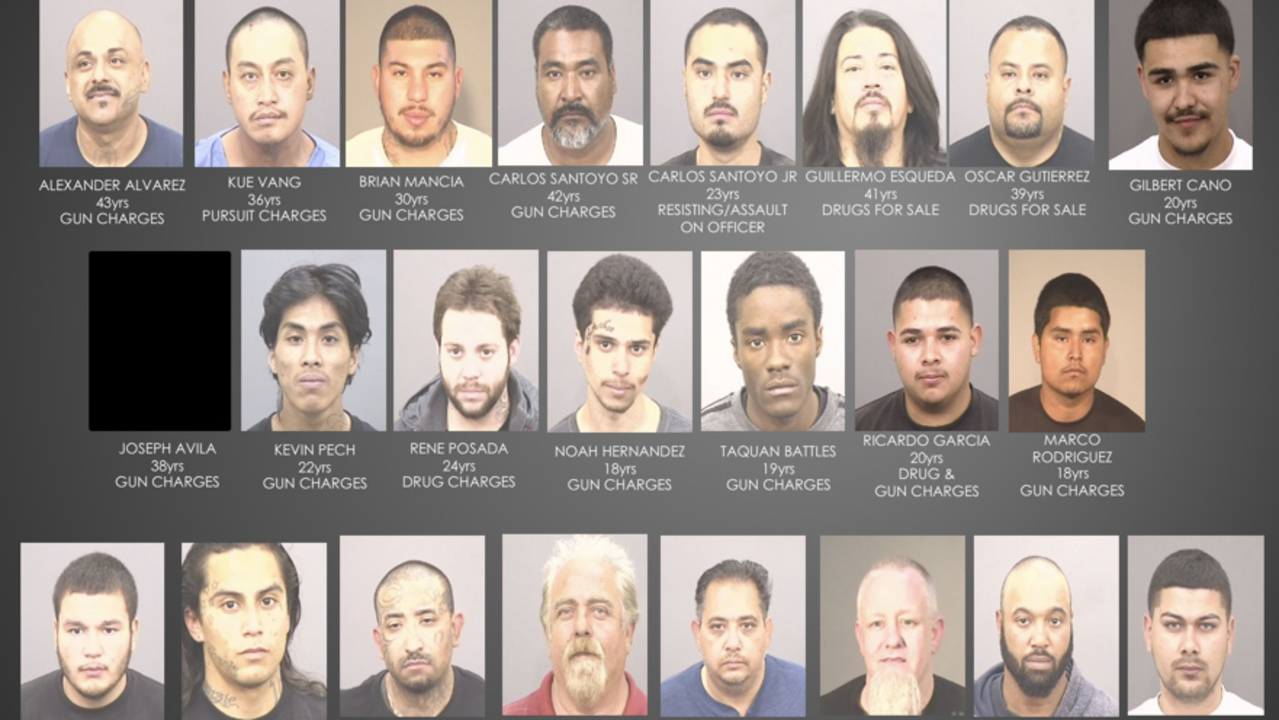 Photos of men arrested in 2018 Fresno gang crackdown