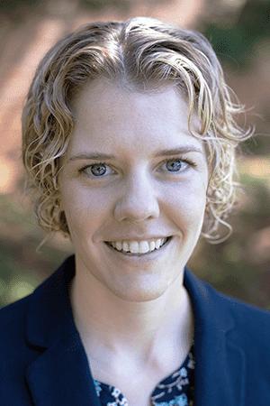 Portrait of Laura E. Alexander, assistant professor of religious studies, University of Nebraska, Omaha i