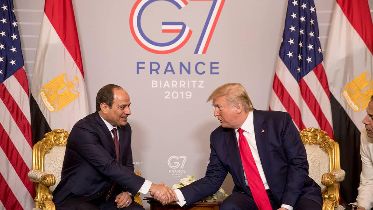 Photo of President Donald Trump and Egyptian President Abdel Fattah al-Sisi