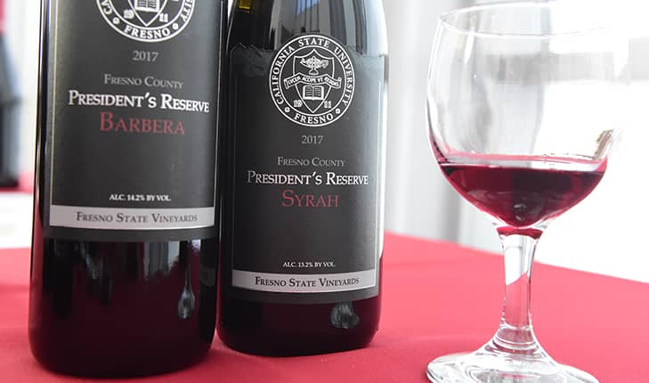 Photo of 2017 Fresno State President's Reserve winesv