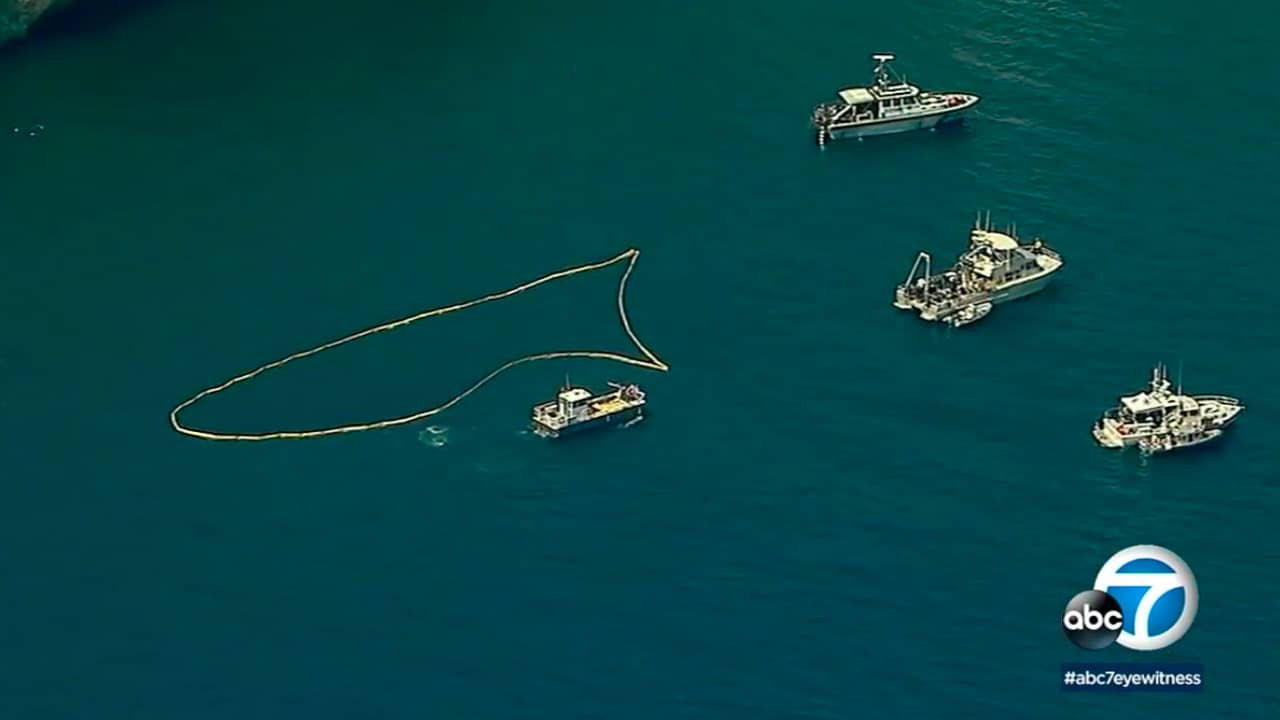 Photo of search are where divers are searching for wreckage