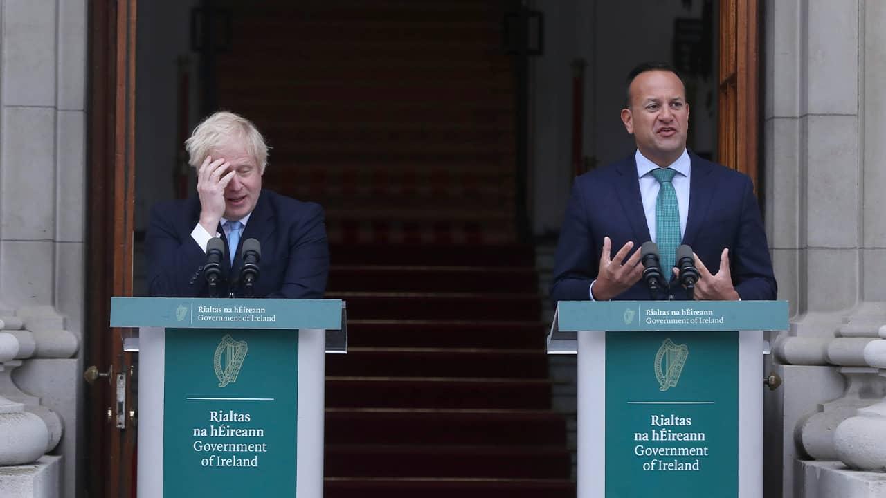 Photo of PM Boris Johnson and PM Leo Varadkar