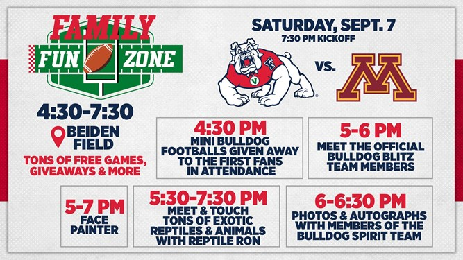 Graphic of Fresno State's Fun Zone Activities