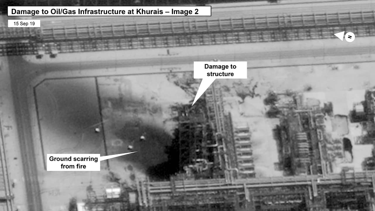 Photo of damages to Saudi oil plant in Buqyaq