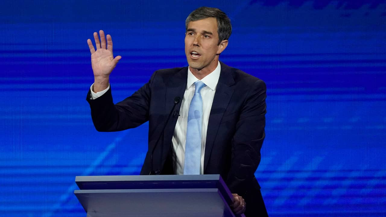 Photo of Beto O'Rourke at the Democratic debate