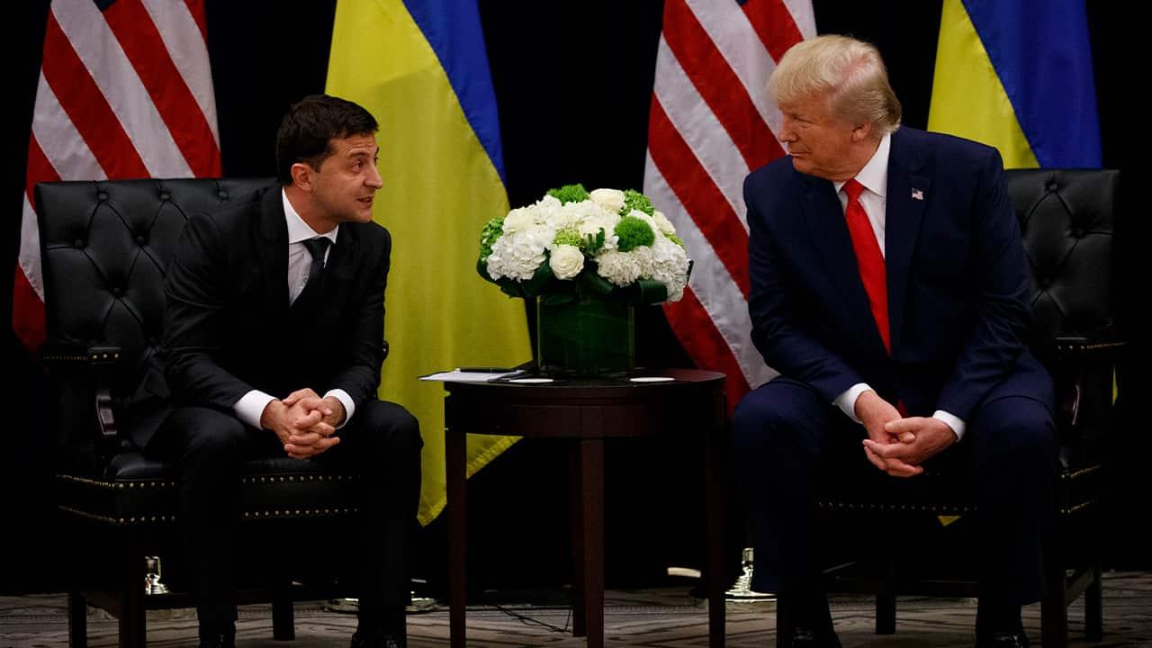Photo of President Donald Trump and Ukraine President Volodymyr Zelenskiy