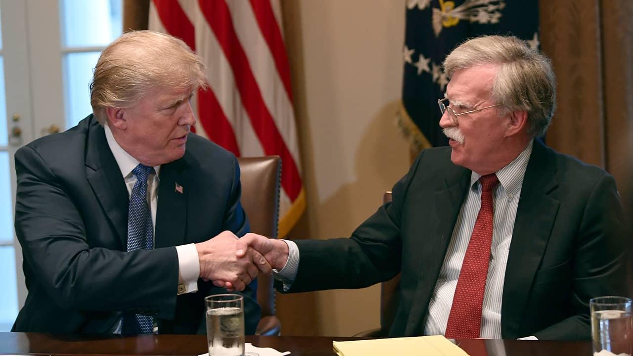 Photo of President Donald Trump and John Bolton