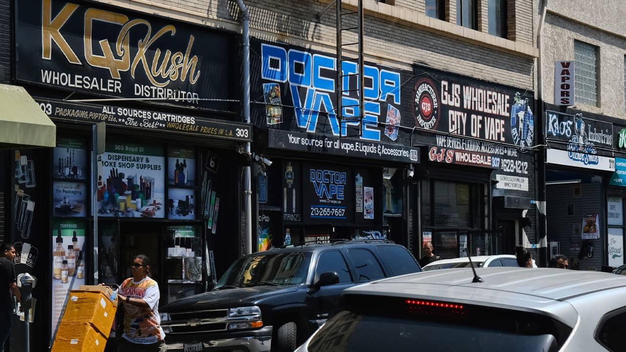 Photo of vape shops in downtown LA